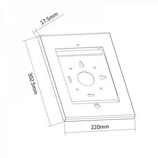 Anti-theft casing dimensions
