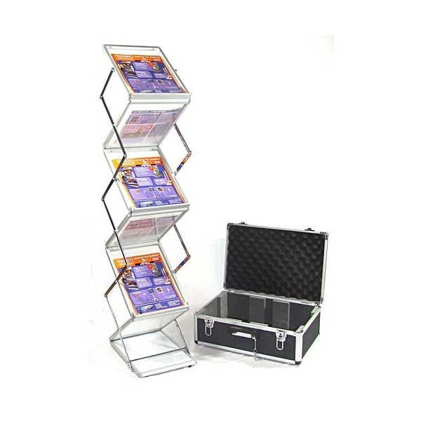 A4 folding literature display with case