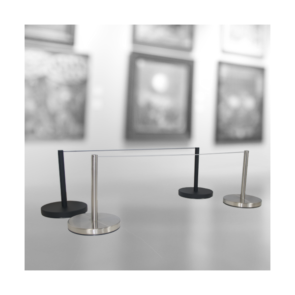 Knee-High Barrier for Galleries and Museums