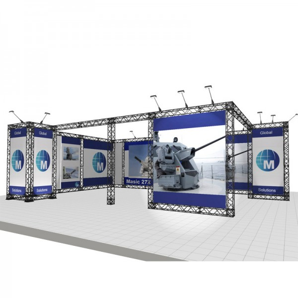 Large Modular Stand Open 2 Sides - 8x5m