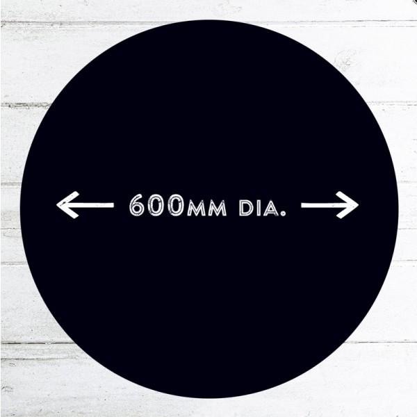 Large 600mm dia circular chalkboard