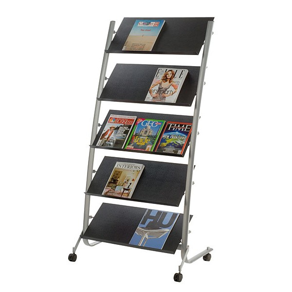 Large Mobile Literature Rack
