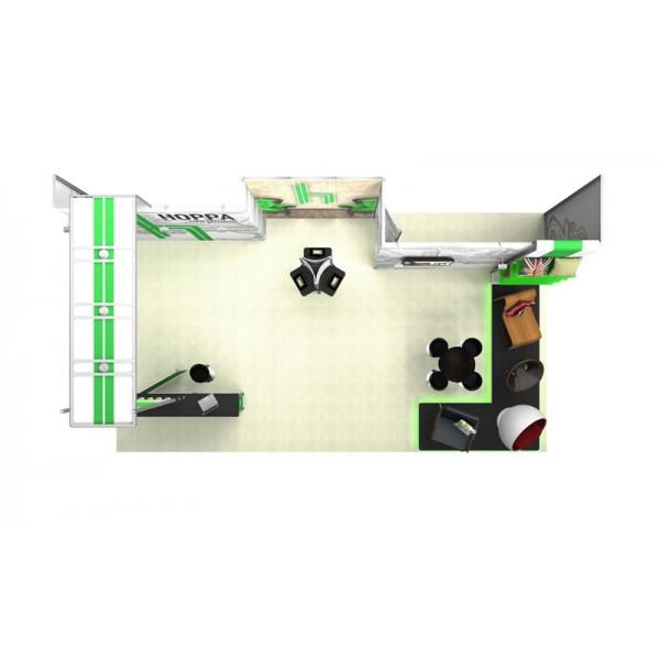 5x8m exhibition stand with storage
