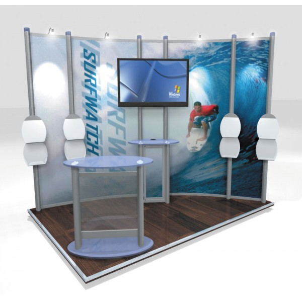 Small Stand Open 2 Sides - 3x2m