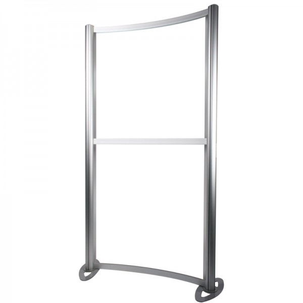 Curved aluminium frame
