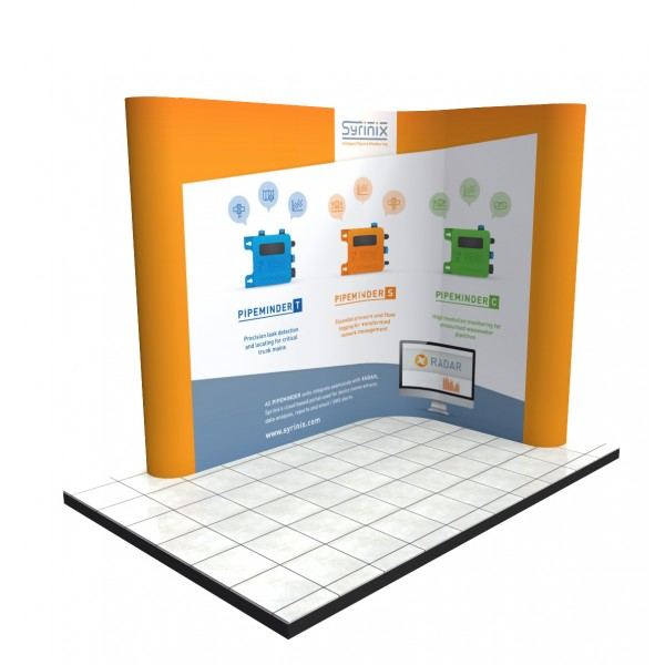 3m x 2m linked pop up stand