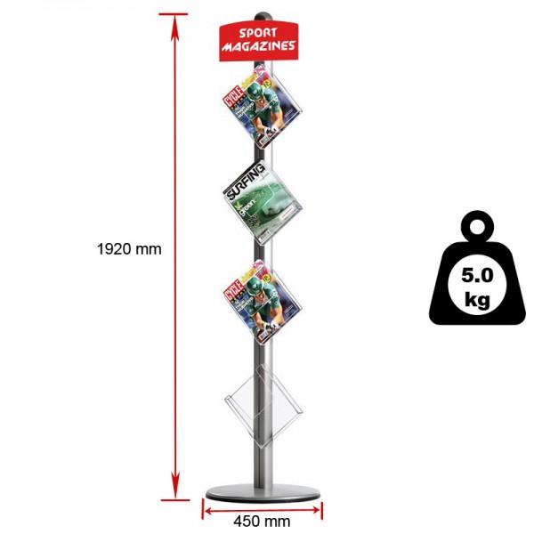 Literature stand dimensions