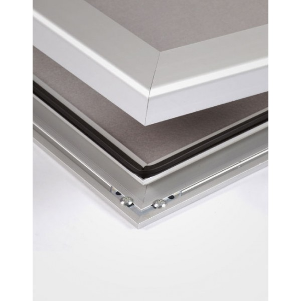 Protective aluminium frame with mitred corners