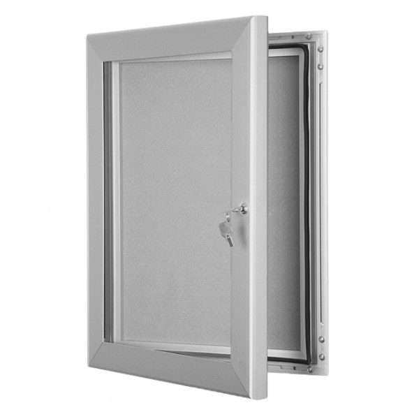Lockable Pin Board - Silver