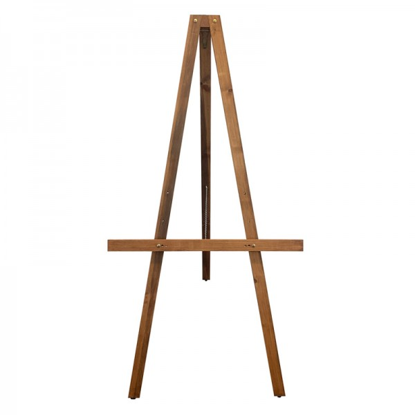 Front view of wooden retail easel