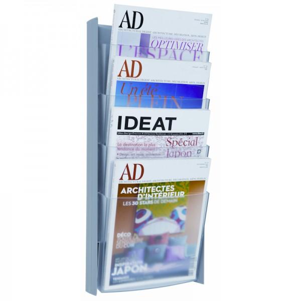 Magazine Rack Wall Mount A4 - Light Grey