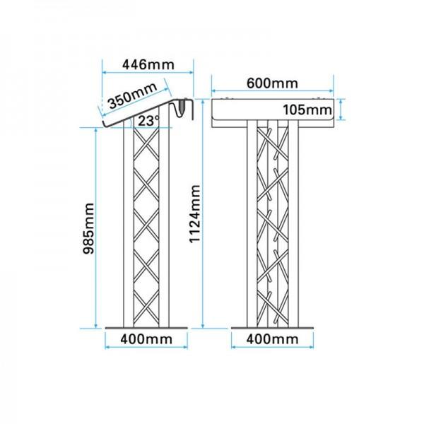 Sturdy Aluminium Lectern Dimensions
