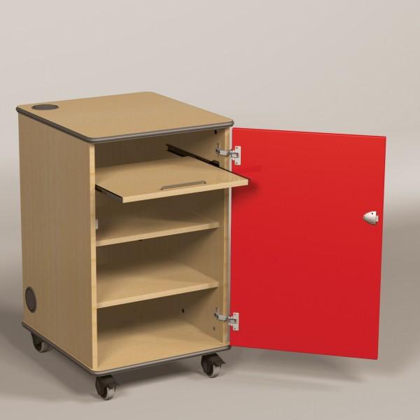 Av cabinet with Red Doors