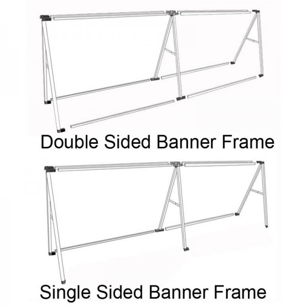 Double and single sided banner frames