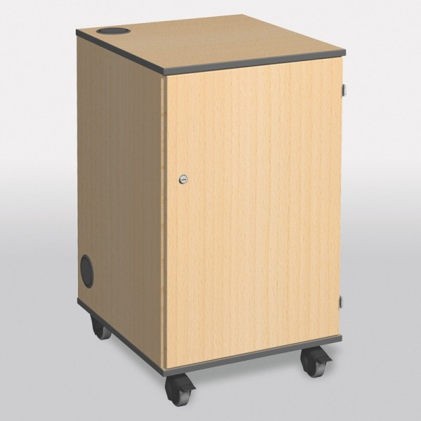 Multimedia Projector Cabinet - view from front with locking door