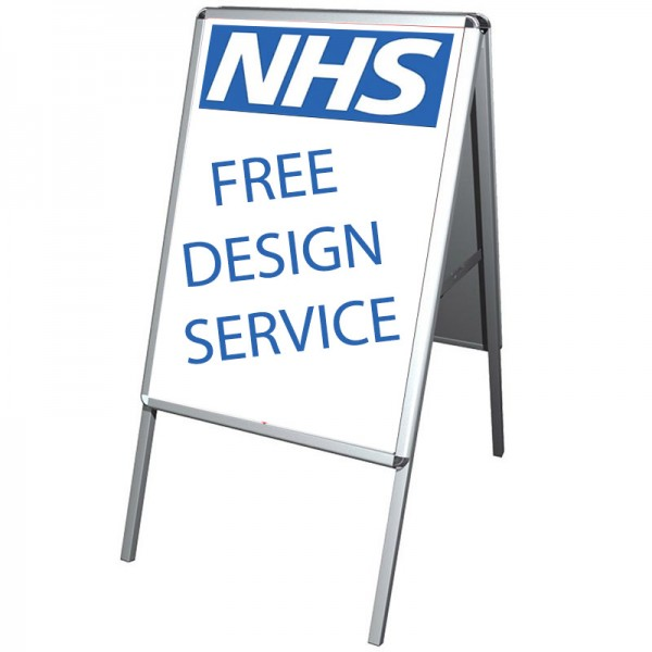 Free graphic design service for NHS customers