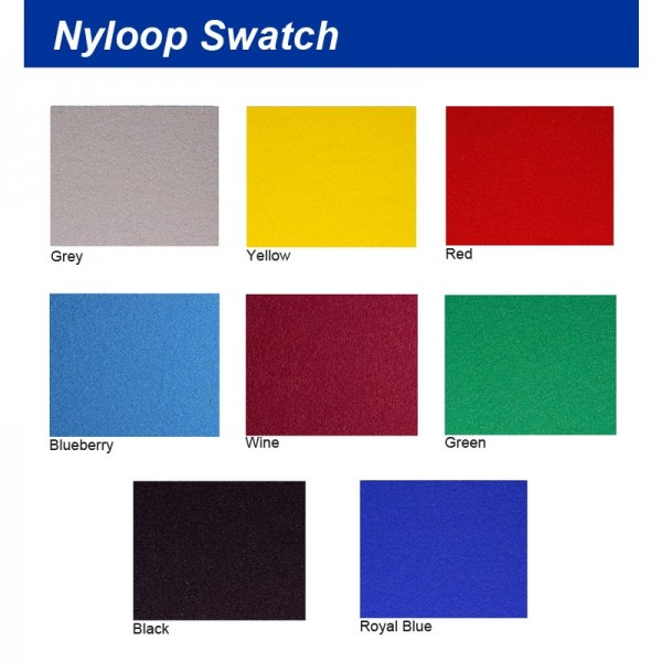 Nyloop Colour Swatch - folding exhibition panel boards - Aluminium