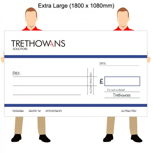 Oversized Promotional Bank Cheques - Extra Large (1800 x 1080mm)