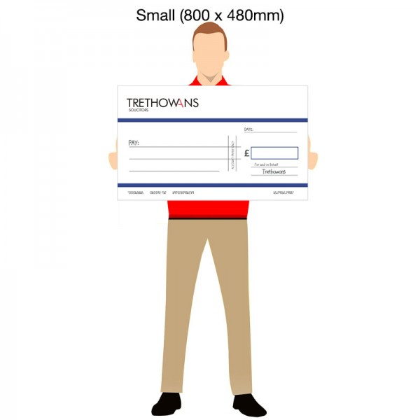 Oversized Promotional Bank Cheques - Small (800 x 480mm)