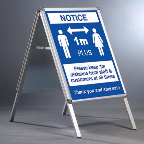 Social Distancing A Board - 1m Apart Notice