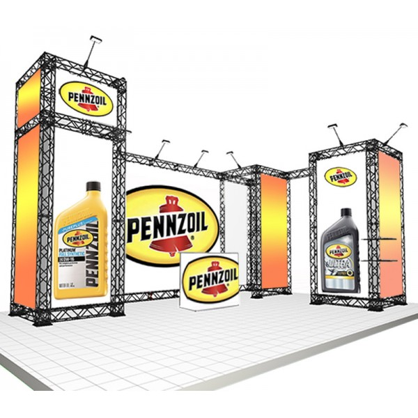 Freestanding 6x4m exhibition stand