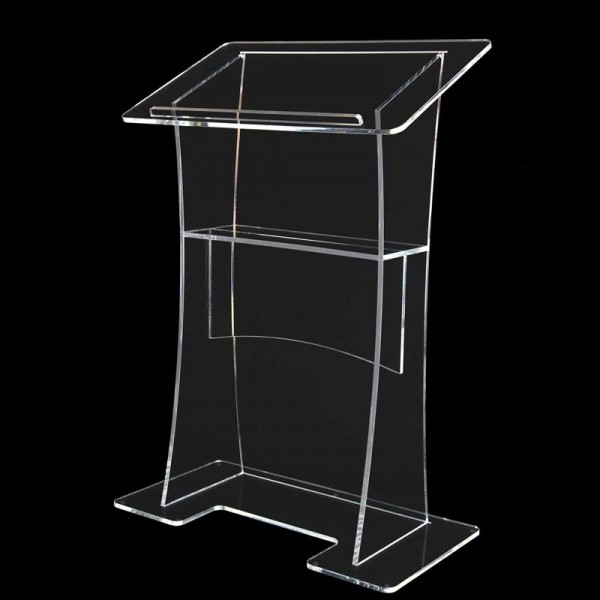 Clear Perspex Acrylic Lectern Rear