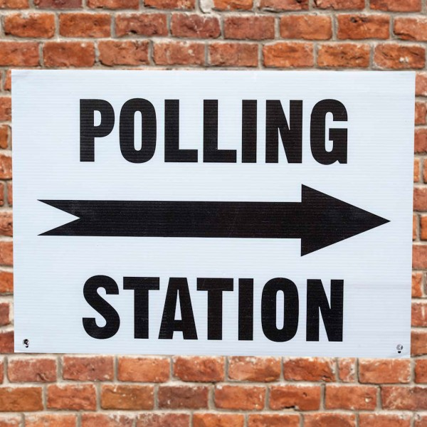 Polling Station Correx wall sign