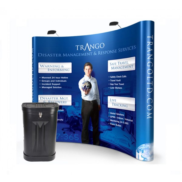 3x3 Curved Pop Up Stand Kit