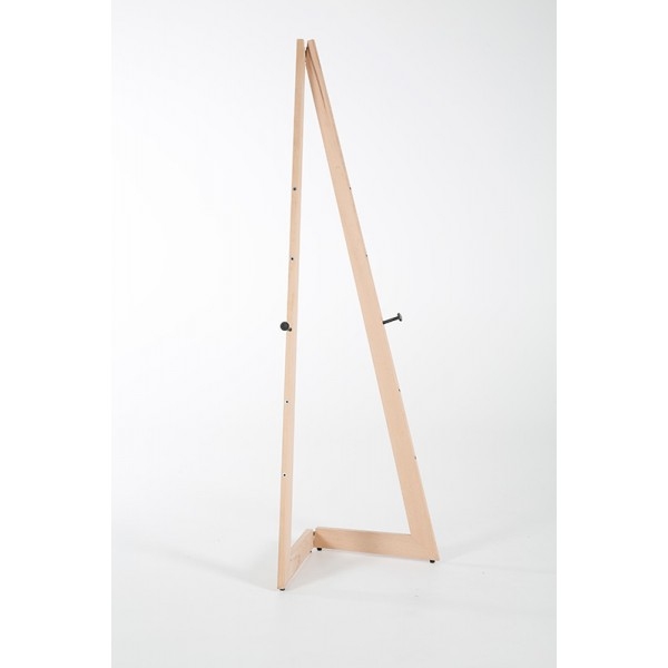 Easel made from natural wood