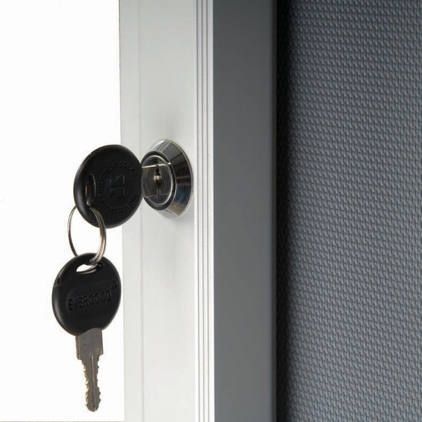 Two keys supplied to keep your posters secure