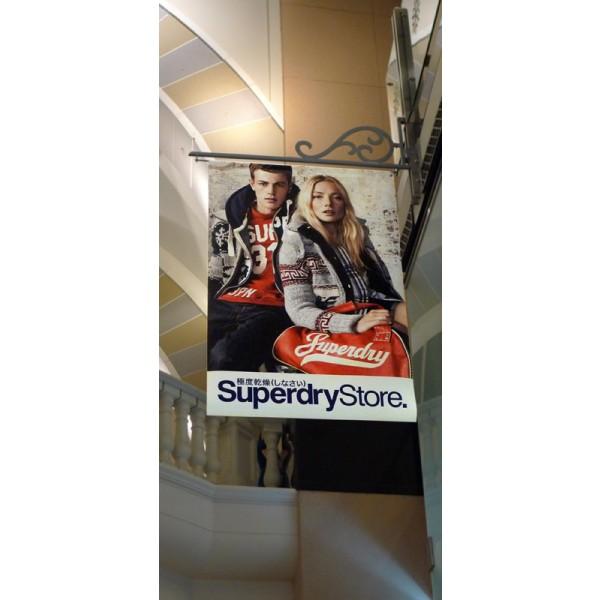 Custom printed hanging banners