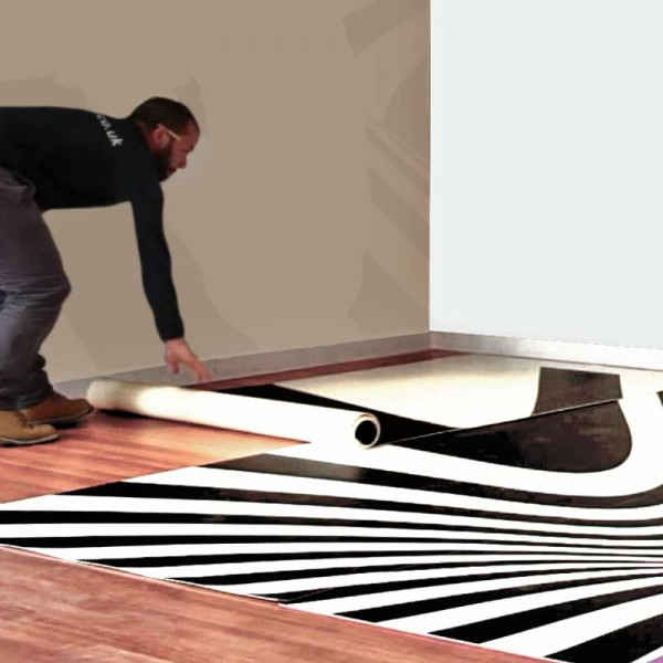 Easy to lay cushioned floor vinyl