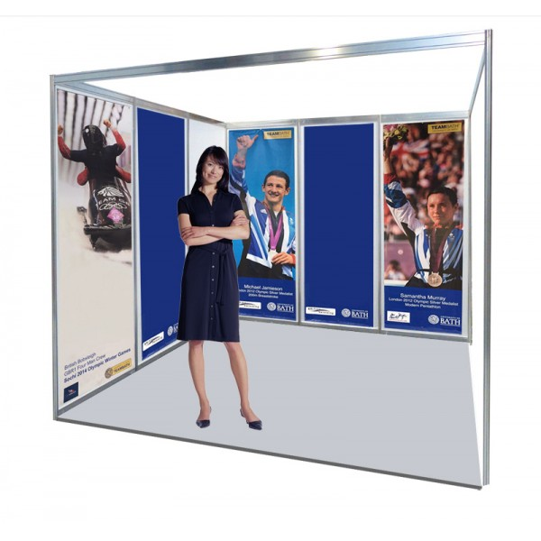 Rollable PVC banners attached with velcro