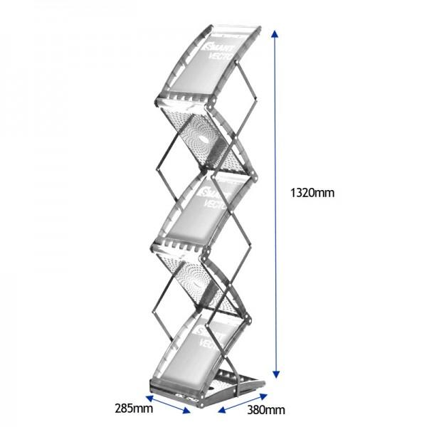 Literature rack sizes