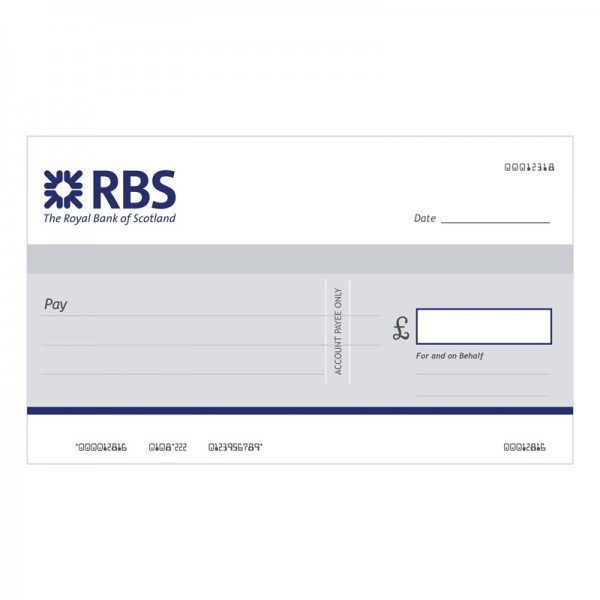 Big Cheque - RBS