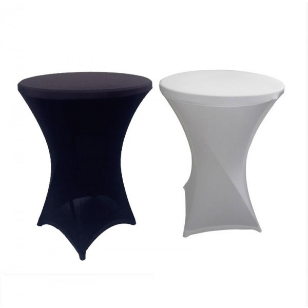 Table With Optional Stretch Cover In Black Or White