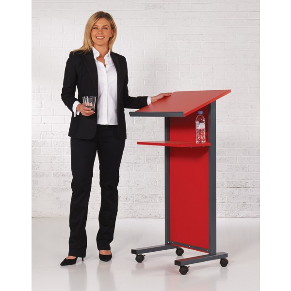 Red Panel Front Lectern