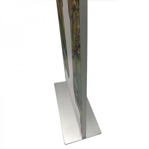Sturdy slimline base and Slimline 25mm frame profile