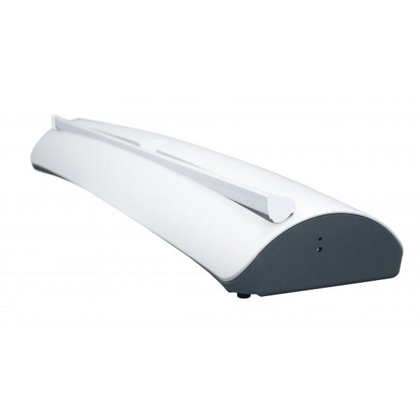 Stylish white base with grey underside and sides