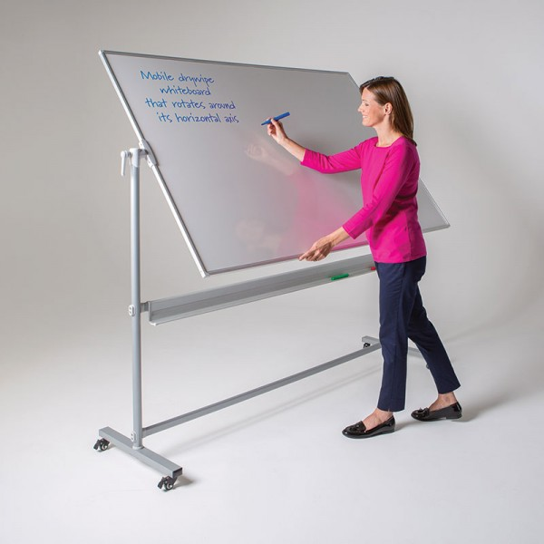 Tiltable whiteboard for easy writing
