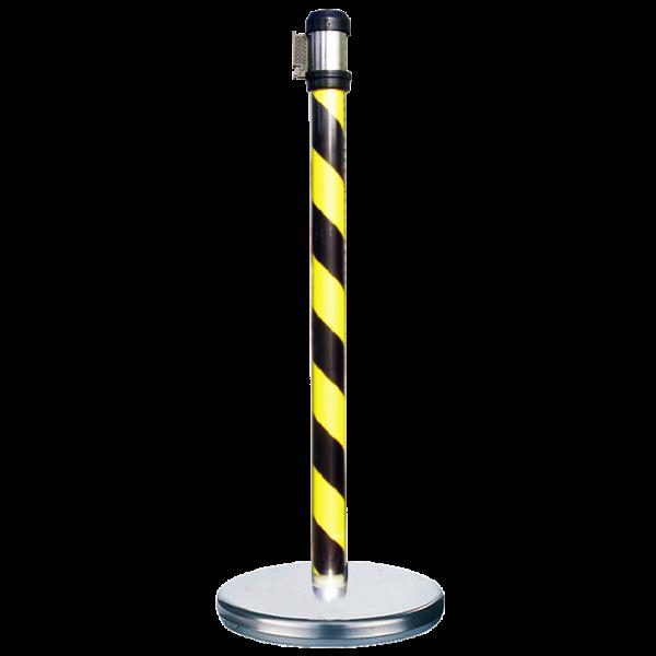 Black/Yellow warning graphic