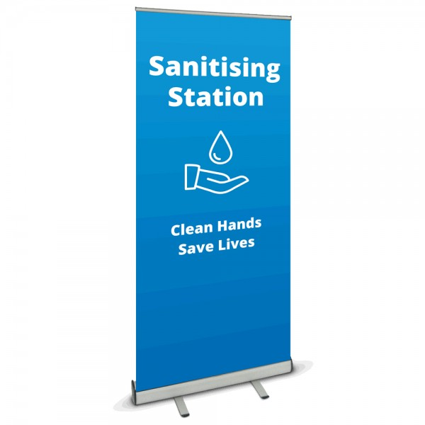 Sanitisation Station Banner - Blue