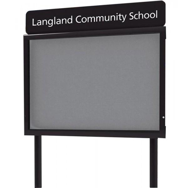 Freestanding Personalised Outdoor School Sign