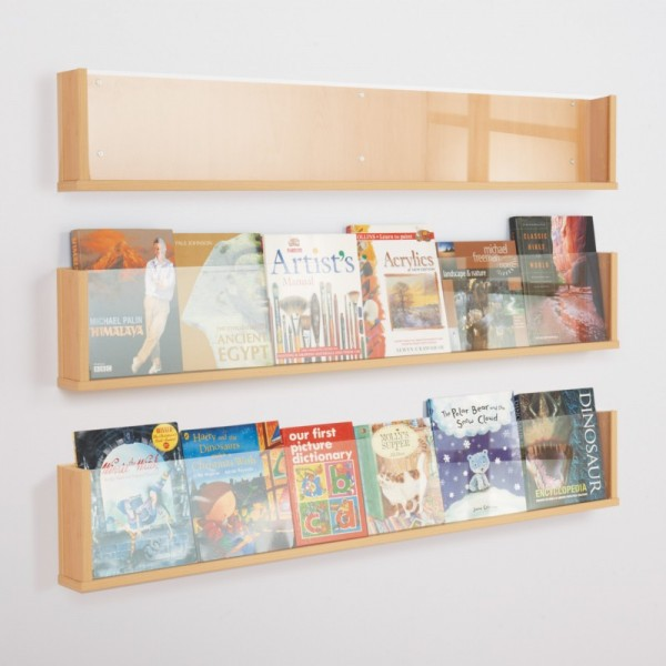 Wooden literature rack