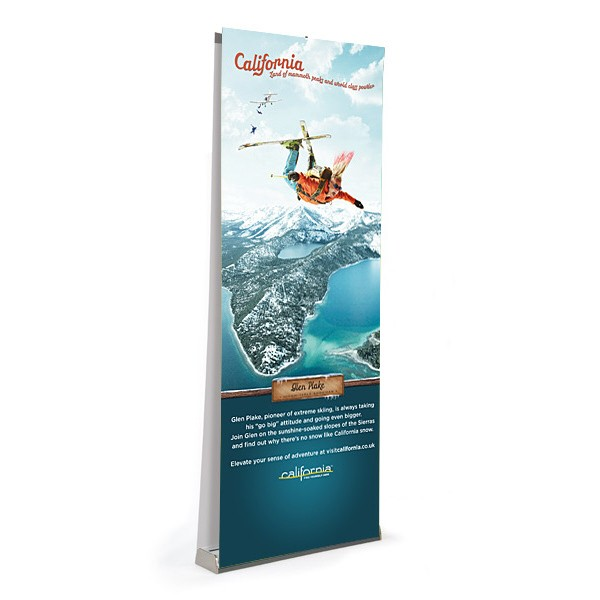 Available as a double sided Banner Stand