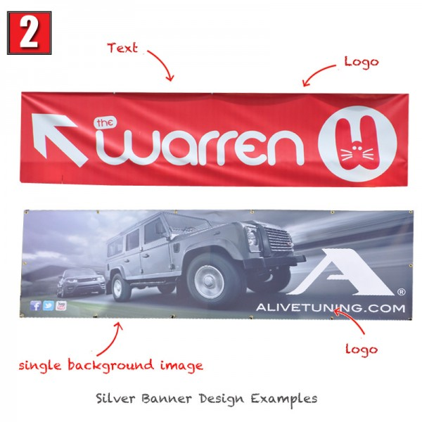Silver Banner Design