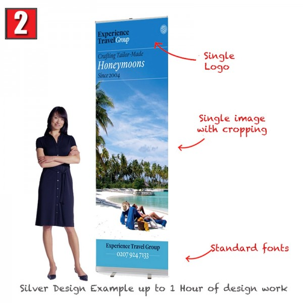 Silver banner stand design