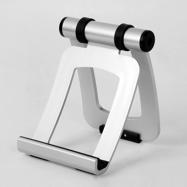 Silver Portable iPad Holder