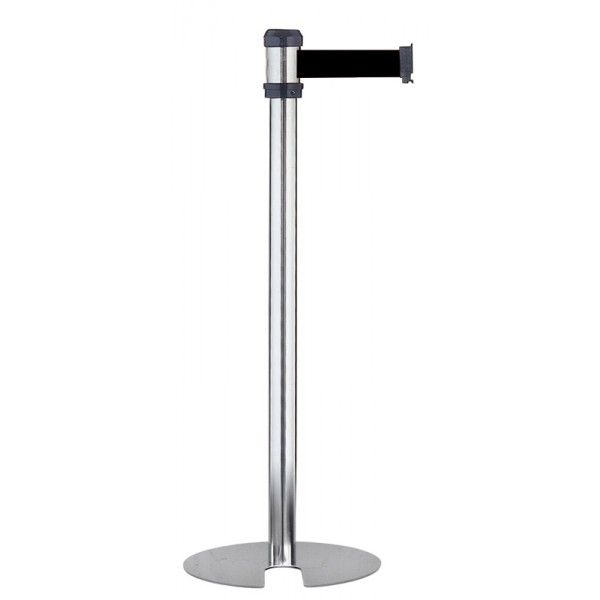 Stainless steel silver space saving barrier