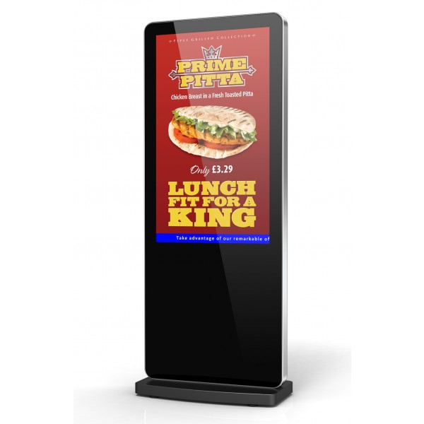 Android freestanding digital poster